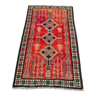 "Vintage Persian Zanjan Area Rug - 2'10""x5'"