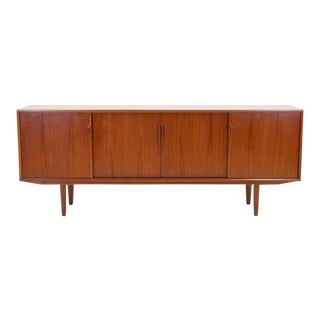 Excellent Danish Modern Teak Credenza or Sideboard by Gunni Omann