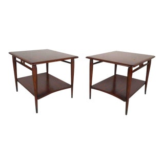 Vintage Modern End Tables by Lane Furniture - a Pair