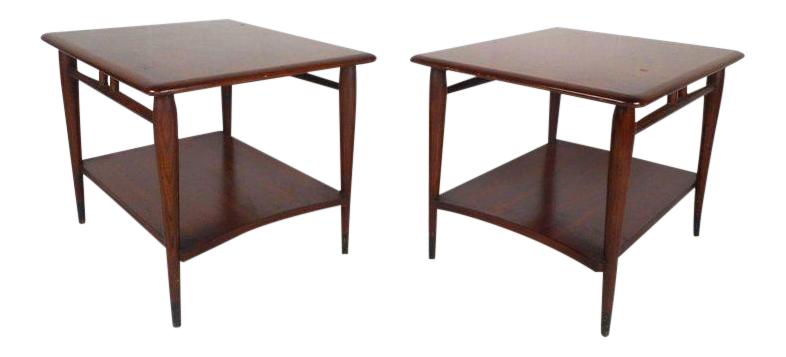 Vintage Modern End Tables By Lane Furniture   A Pair