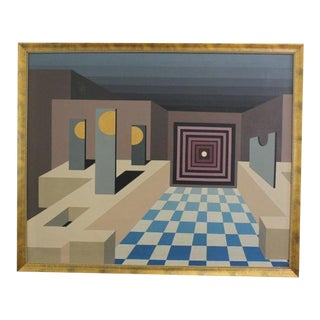 1964 Large Surrealist Painting by Zorack