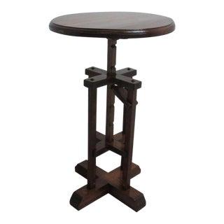 Antique Adjustable Jack Lamp End Table