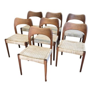 Danish Teak Dining Chairs - Set of 7