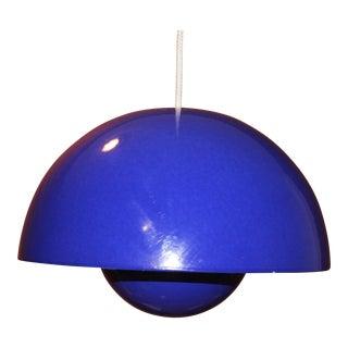 Vintage Blue Lamp Shade