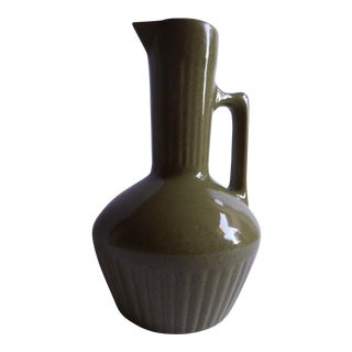 Speckled Green Stoneware Pitcher