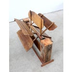 Image of Antique Paddle Wheel Propeller in Stand