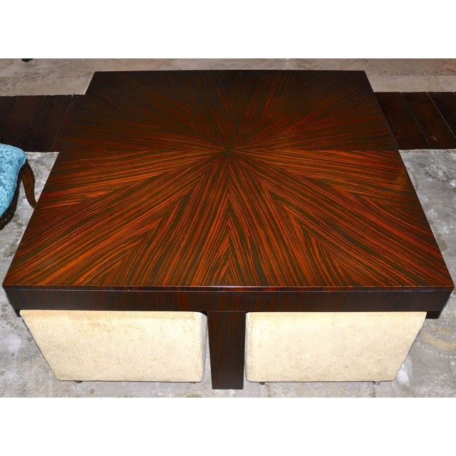 Henredon Oriental Style Coffee Table: Henredon Crossroads Cocktail Table With Ottomans