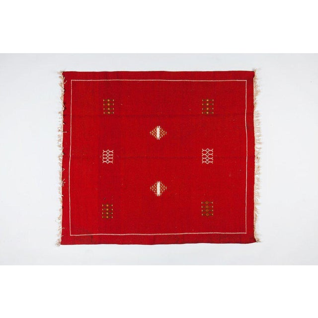 """Image of Red Moroccan Berber Rug - 4'3"""" X 4'10"""""""