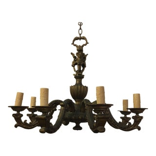 Antique Belgian Brass Chandelier