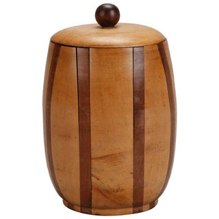 English Satinwood and Walnut Lidded Canister