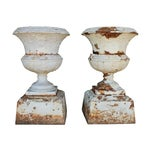 Image of Large Victorian Garden Urns - A Pair