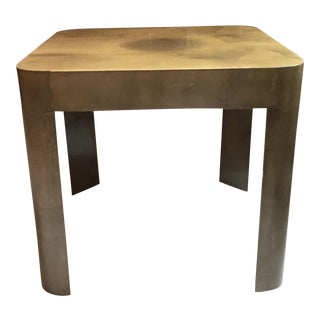 Lacquered Goatskin Side Table