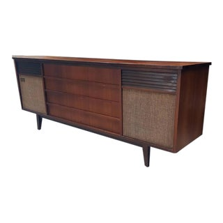 Mid-Century Olympic Dual Stereo Record Cabinet