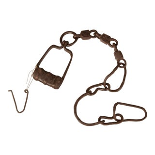 Hand Forged Iron Shackle, France c.1880