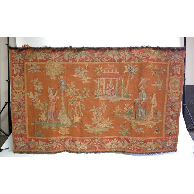 Antique Large Aubusson Tapestry - Image 2 of 4