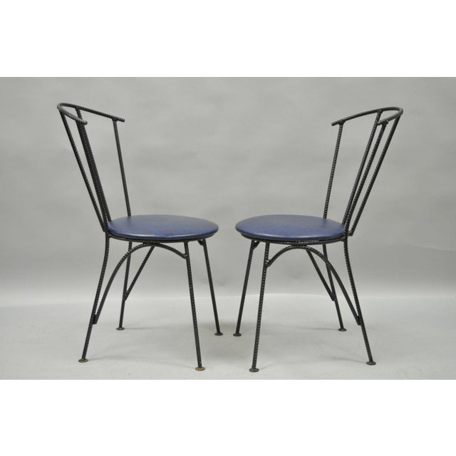 Mid-Century Modern Brutalist Iron Rebar Dining Chairs - Set of 4 - Image 8 of 11