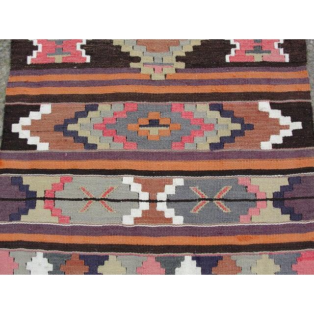 Vintage Turkish Kilim Rug - 2′8″ × 12′5″ - Image 5 of 11
