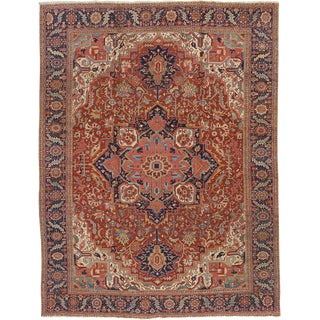 """Antique Heriz Carpet - 14'10"""" x 11'5"""""""