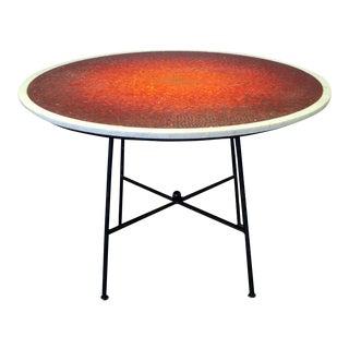 Sunburst Mosaic Marble Top Dining Table Attributed to Vladimir Kagen
