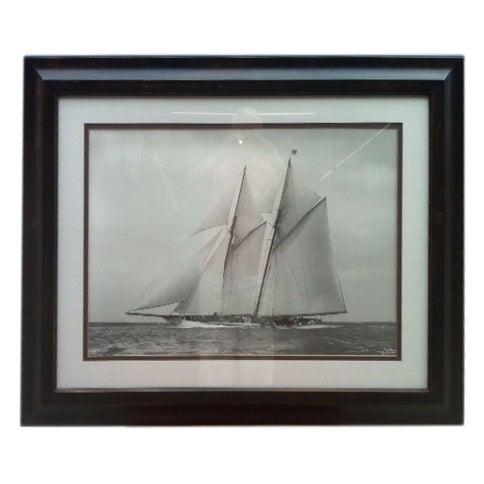 Crate & Barrel Photo Art - Meteor IV Sailing Boat - Image 1 of 3
