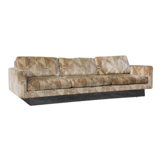 Milo Baughman Style Selig Chrome Sofa