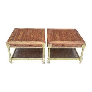 Jansen Hollywood Regency End Tables - Pair