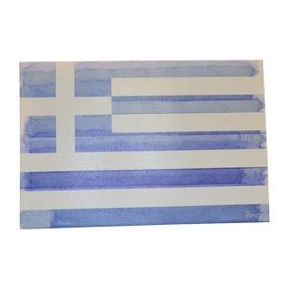 Parvez Taj Greek Flag Painting