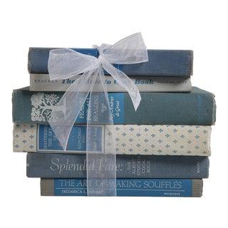 Vintage Cookbook Gift Set: Blue & White Mix, S/6