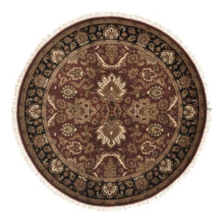 "Traditional Wool Round Rug - 4'11"" X 4'11"""
