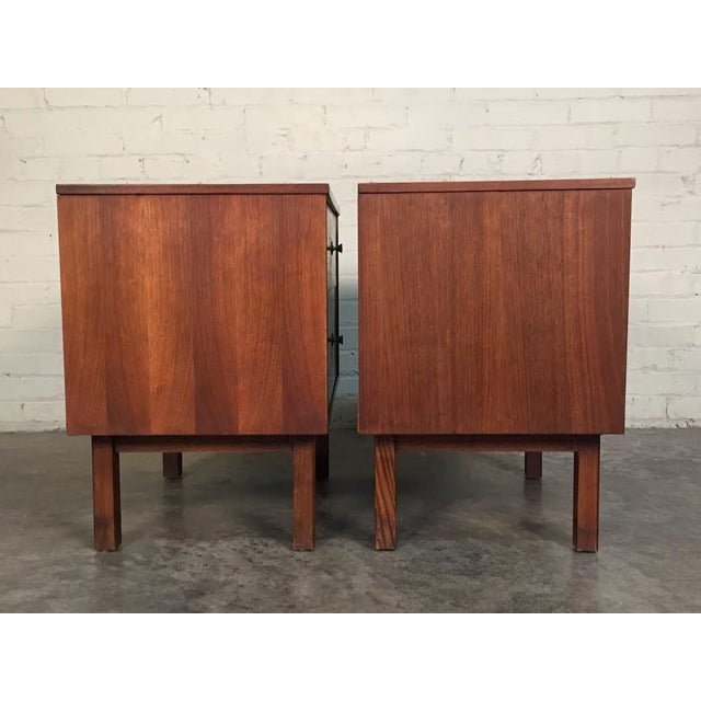 Mid-Century Danish Modern White Top Nightstands - a Pair - Image 6 of 10