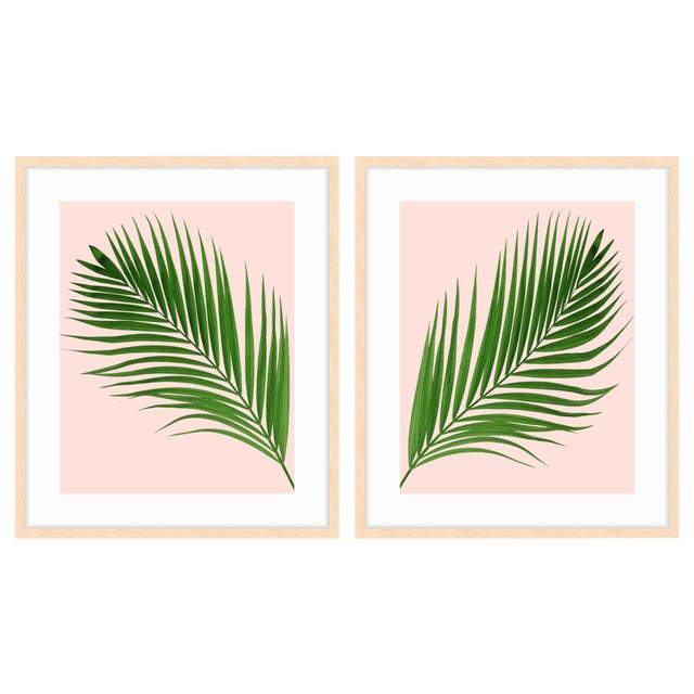Image of Set of 2 Framed Palm Prints (Diptych) - a Pair