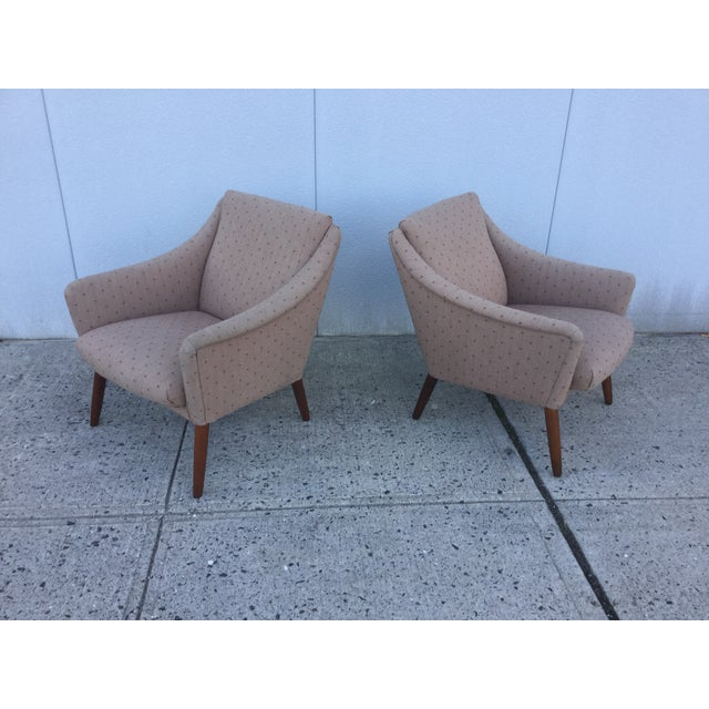 Image of Vintage Danish Modern Lounge Chairs - A Pair