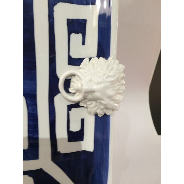 Mane Lion Greek Key Ceramic Platter & Four Bowls - Image 4 of 4