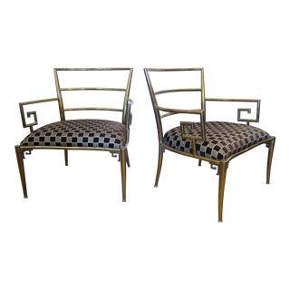 Pair of Brass Mastercraft Armchairs