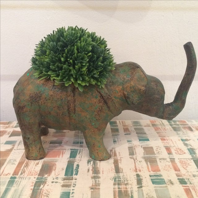 Japanese Cast Metal Elephant Planter - Image 4 of 7