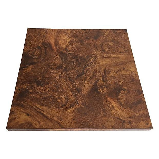 Image of Burl and Brass Accent Table
