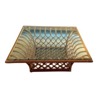 Bamboo & Glass Coffee Table