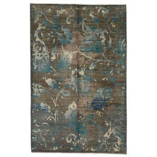 "Contemporary Hand-Knotted Rug- 6'1"" x 9'4"""