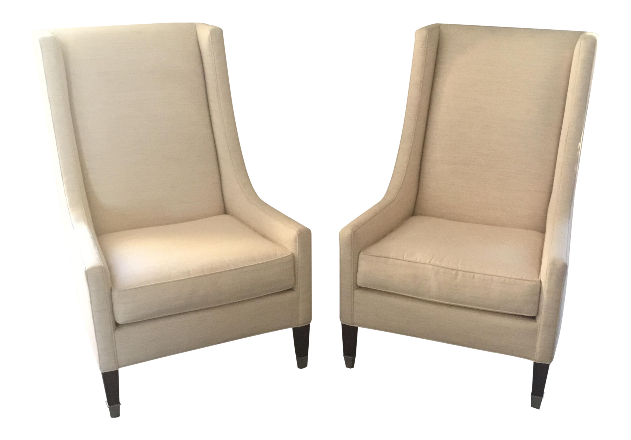 Charming Kravet Navarre Tall Chairs   A Pair