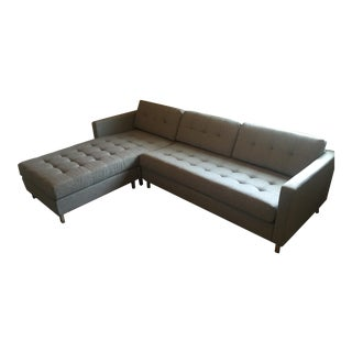 CB2 Ditto II Gray Sectional Sofa