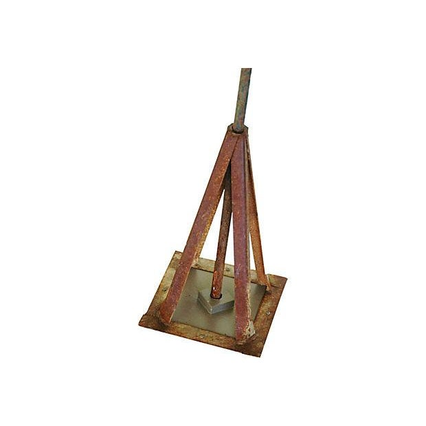 Vintage Copper Sailfish Weathervane with Stand - Image 4 of 7