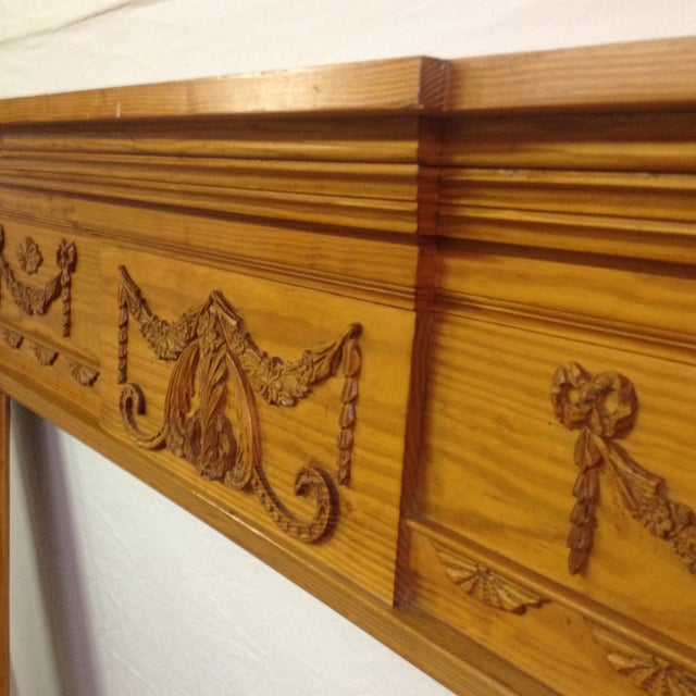 New Pine Fireplace Mantel, Gumps - Image 4 of 9