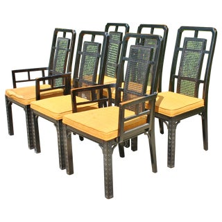 Vintage Chinese Chippendale Chairs - Set of 6