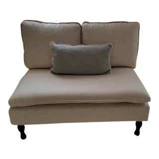 Contemporary Petite Armless Loveseat