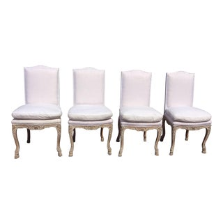 French Regency Style Antique Chairs - Set of 4