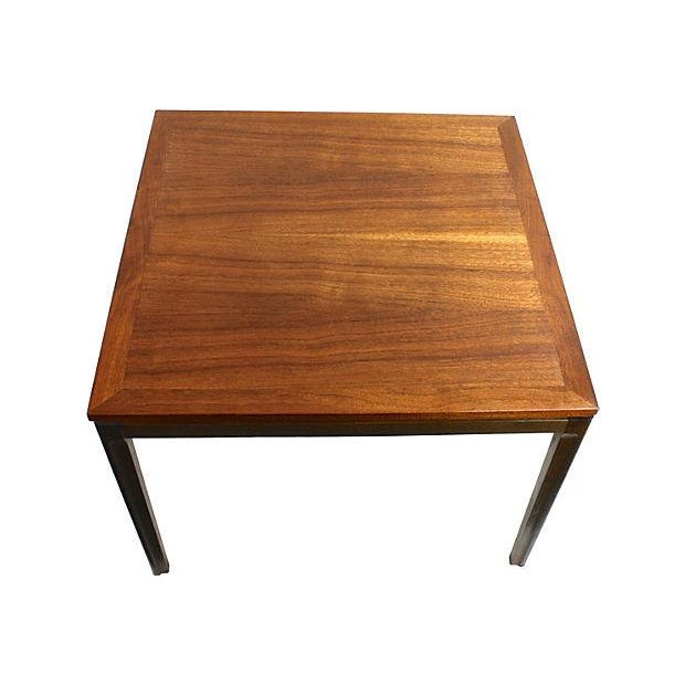 Image of Mid-Century Danish Modern Two-Tone Teak End Table