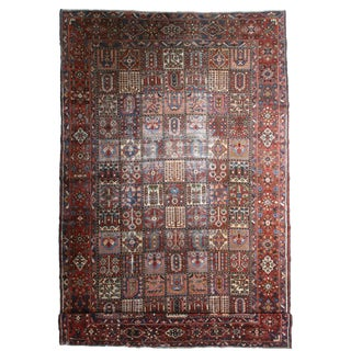 Antique Hand Knotted Wool Persian Baktiari Rug - 10′5″ × 16′3″