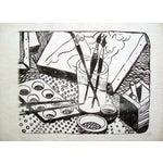 Image of Black & White Artist Studio Lithograph