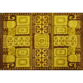 Large Wool Rug with Cubist Detail