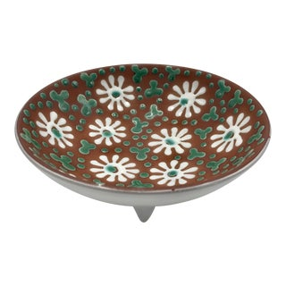 Danish Modern Floral Bowl by Zeuthen Keramik of Denmark - Signed